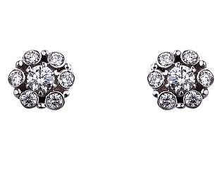 Золоті сережки з діамантами 01-17635615 фотографія