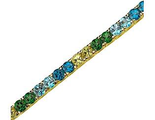 Золотой браслет с топазами и хризолитом 3б_б-027 фотография