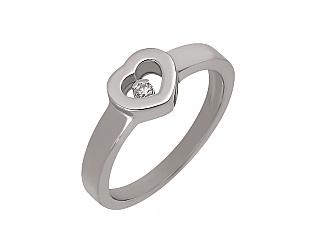 Золотое кольцо с бриллиантом 2к-259 фотография