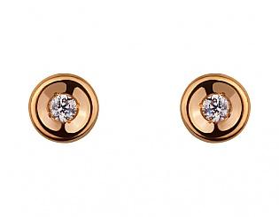 Золоті сережки з фіанітом 1б_с-077 фотографія