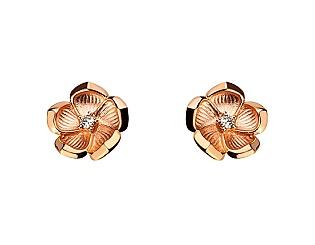Золоті сережки з діамантом 1б_с-062 фотографія