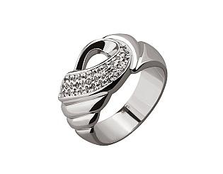 Золотое кольцо с фианитами 01-17148516 фотография