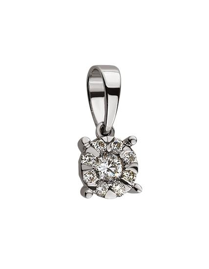 Золотий кулон з діамантами 01-17435816 фотографія