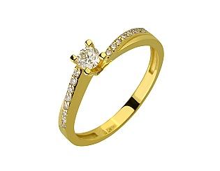 Золота каблучка з діамантами 3б_к-205 фотографія