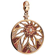 Золотий кулон з діамантами і топазами (1б_п-184)