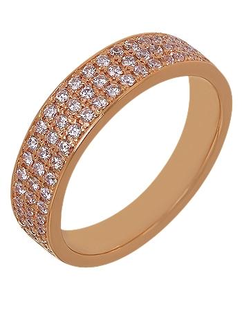 Золотое кольцо с фианитами 1б_к-039 фотография 1