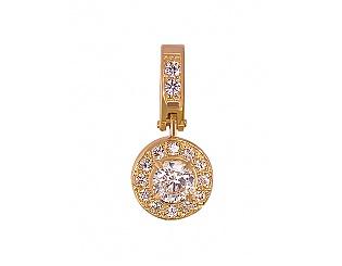 Золотий кулон з фіанітами 1б_п-002 фотографія