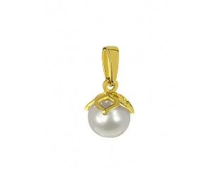 Золотой кулон с жемчугом 3б_п-043 фотография