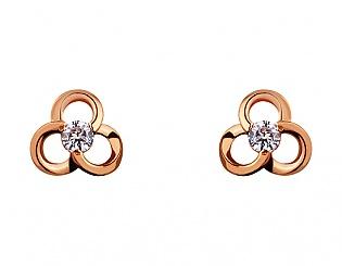 Золоті сережки з фіанітом 1б_с-076 фотографія