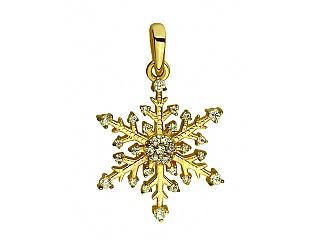 Золотий кулон з фіанітами 9б_п-084 фотографія