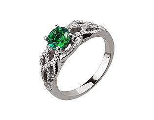 Золотое кольцо с бриллиантами и топазами 2б_к-154 фотография