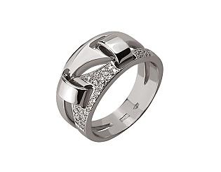 Золотое кольцо с бриллиантами 01-17495217 фотография