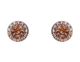 Золоті сережки з кварцом 01-17499617 фотографія