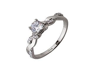 Золотое кольцо с цирконием куб. 01-17624617 фотография
