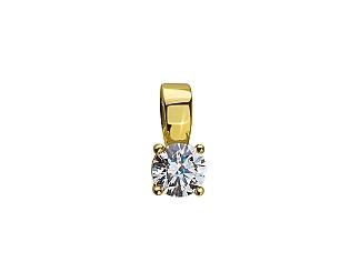 Золотий кулон з цирконієм куб. 01-17635617 фотографія