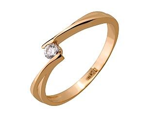 Золота каблучка з діамантом 1к-079 фотографія