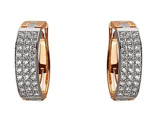Золоті сережки з цирконієм куб. 01-17645418 фотографія