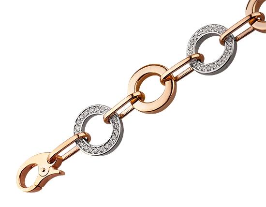 Золотий браслет з фіанітами 4б-030 фотографія 2