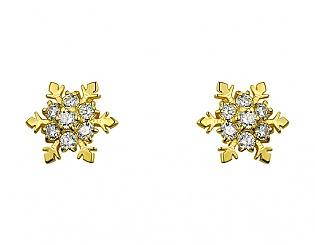 Золоті сережки з фіанітами 3б_с-103 фотографія