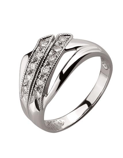 Золотое кольцо с бриллиантом 01-17499619 фотография