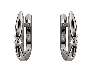 Золоті сережки з діамантами 01-17579019 фотографія