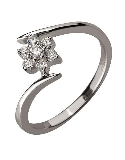 Золотое  кольцо с бриллиантами 01-17599219 фотография 1