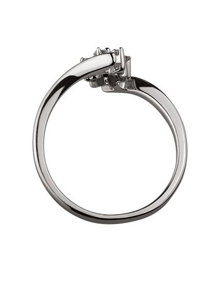 Золотое  кольцо с бриллиантами 01-17599219 фотография 2