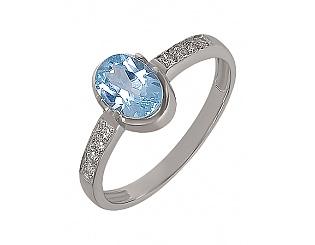Золотое кольцо с топазами и бриллиантами 2к-241 фотография