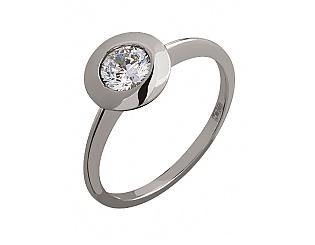 Золотое кольцо с цирконием куб. 2б_к-108 фотография