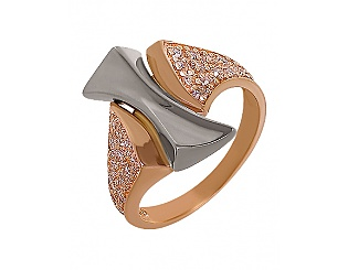 Золотое кольцо с фианитами 4-к-1460 фотография