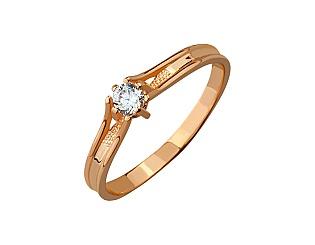 Золота каблучка з фіанітами 01-17278520 фотографія
