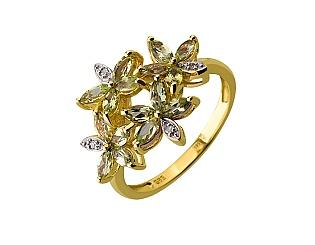 Золотое кольцо с кварцами 01-17479220 фотография