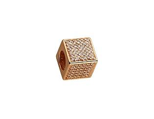 Золотий кулон з цирконієм куб. 01-17506420 фотографія
