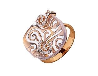 Золотое  кольцо с бриллиантами 01-17511020 фотография