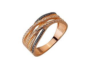 Золота каблучка з цирконієм куб. 01-17620820 фотографія