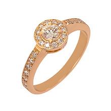 Золота каблучка з діамантами