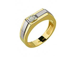 Золотое кольцо с циркониями 5б_к-113 фотография