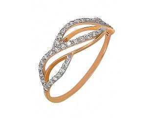 Золотое кольцо с фианитами 4-к-1458 фотография