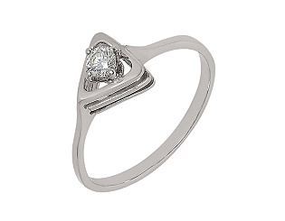 Золотое кольцо с бриллиантом 01-17456621 фотография