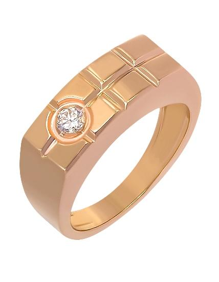 Золотой перстень 585 пробы с фианитом (15-000069933)