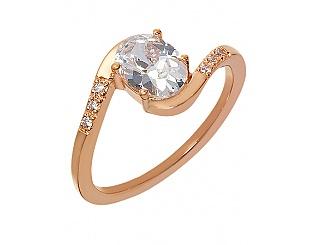 Золотое кольцо с фианитами 1к-277 фотография