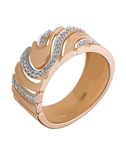 Золотое кольцо с фианитом 8к-255 фотография