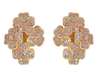 Золоті сережки з фіанітами 1-с-1184 фотографія