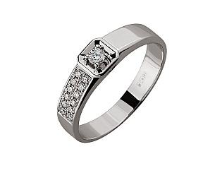 Золота каблучка з діамантами 01-17479222 фотографія