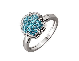 Золотое кольцо с топазами 2б_к-127 фотография