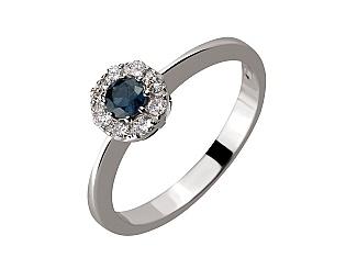 Золотое кольцо с сапфирами и бриллиантами 2б_к-149 фотография