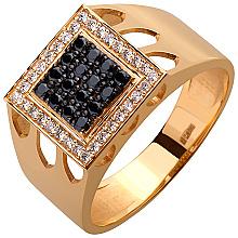 Золотое кольцо с фианитами (10б_к-051)