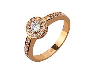 Золотое кольцо с фианитами 1б_к-002 фотография