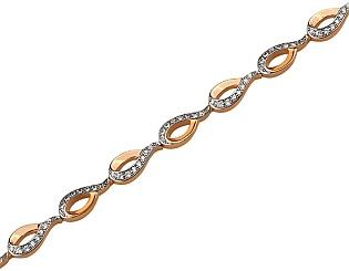 Золотой браслет с циркониями 01-17522523 фотография