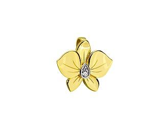 Золотий кулон з діамантами 9б_п-177 фотографія